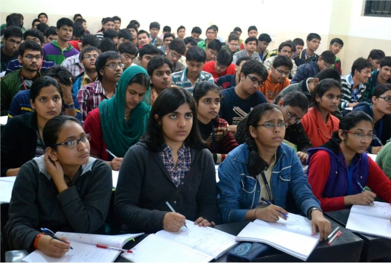 Students attend the coaching for civil service examination