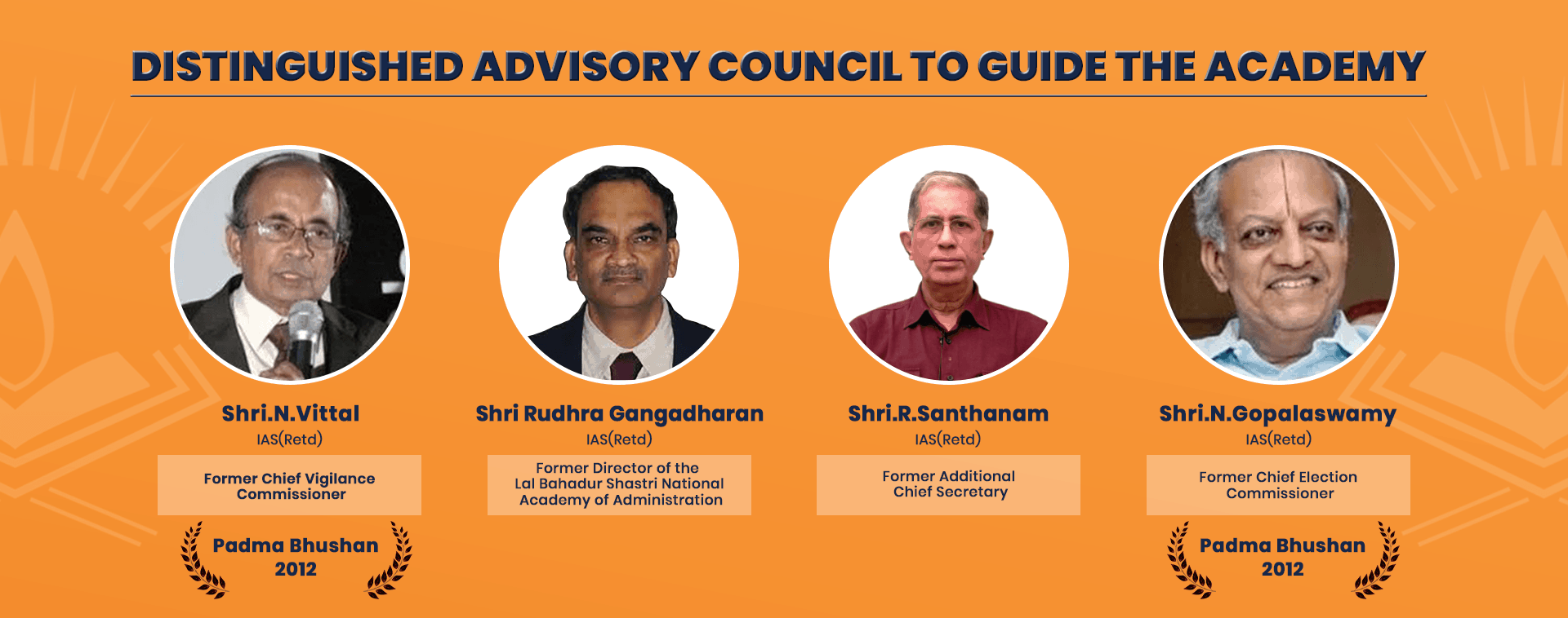 Advisory council members of chinmaya ias academy